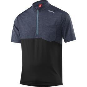 Löffler Rainbow Fietsshirt korte mouwen Heren blauw/zwart
